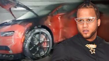El Alfa: su Bugatti de $3 millones aparece quemado en Miami