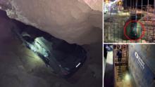 Automóvil cae a zanja de 20 pies en medio de sitio de construcción en el condado de Fresno