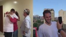 El emotivo reencuentro del diputado opositor venezolano Juan Requesens con sus padres tras ser excarcelado