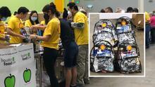 Regalan mochilas y útiles escolares en la feria de regreso a clases en Houston