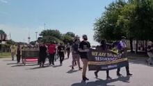 Emprenden marcha de Georgetown a Austin en nombre de la igualdad y el derecho al voto sin restricciones