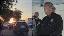 Jefe de la policía de Los Ángeles se disculpa por posible error que ocasionó fuerte explosión en el barrio hispano